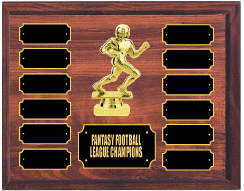 Football Runner Perpetual Plaque Trophies And Awards